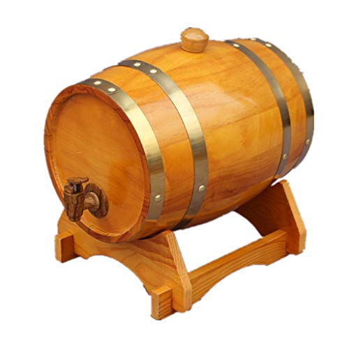 Whiskey Barrel Eiken vat 1.5L Eiken Veroudering Bucket, Home Decor Barrel Bar Restaurant Kast Display Wijn Opslag Emmer voor het opslaan van bier Whiskey Wijn Houten vaten