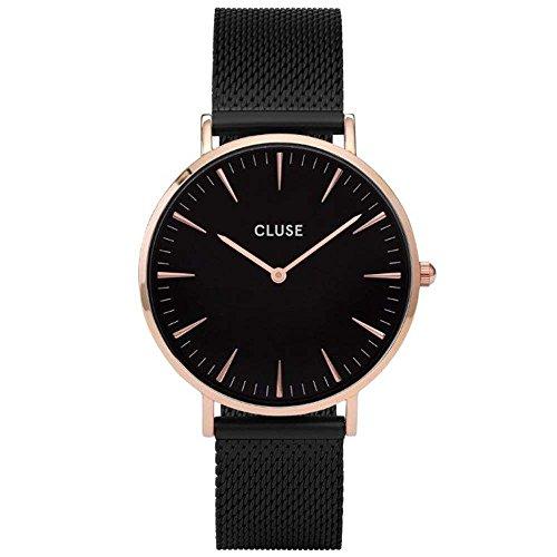 CLUSE Reloj Analógico para Mujer de Cuarzo con Correa en Acero Inoxidable CL18034