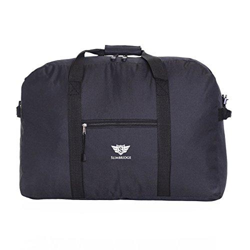 Slimbridge Ryanair Maximal Größe Leichter Faltbare Weekender Handgepäck Reisetasche Umhängetasche - 55 cm 44 Liter 250 Gramm, Tarbet Schwarz