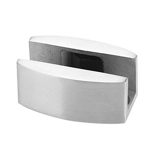 Protector Pared Tope para Puerta Acero Inoxidable 304 para el Suelo Guía Inferior Repuesto para Puertas Correderas Cristal Sin Marco Resistente para Hogar Oficina Puerta Acabado Cepillado