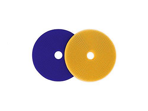 Spike Silicone Fij-It - Fidget Tactile Sensory Motor Aid for School, Home, Work (Yellow/Purple)