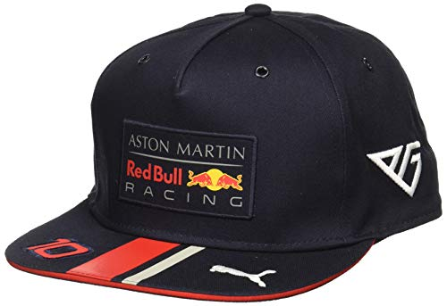 Red Bull Racing Aston Martin Pierre Gasly Flatbrim Cap 2019 Gorra de béisbol, Azul (Navy Navy), Talla única Unisex Adulto