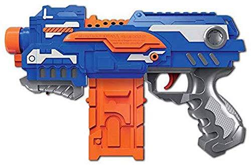 Brigamo 6555 - Elektrisches Dartblaster Gewehr Softdart Blaster Firestorm inkl. 16 Schaumstoff Pfeile