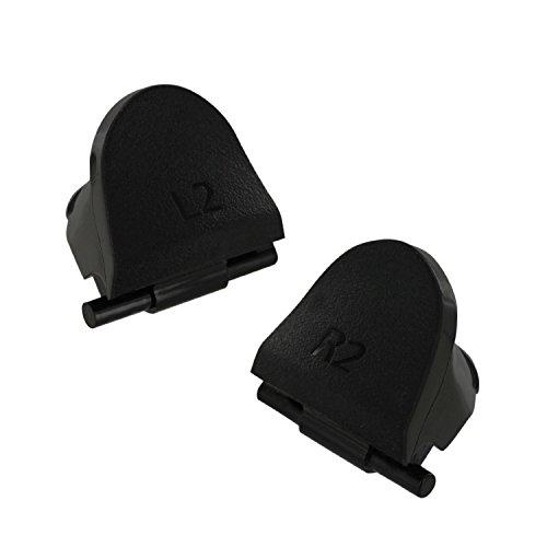Wivarra 1 Juego de Reemplazo L2 R2 Botones de Disparo + 4 resortes para 4 PS4