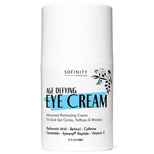 412oIsIqNIL - Eye Cream Anti Aging Bags & Dark Circle - Under Eye Cream - Dark Circles under Eye Treatment for Women / Men - Eye Cream for Dark Circles and Puffiness - With Retinol, Caffeine, Vitamin C, by Sofinity