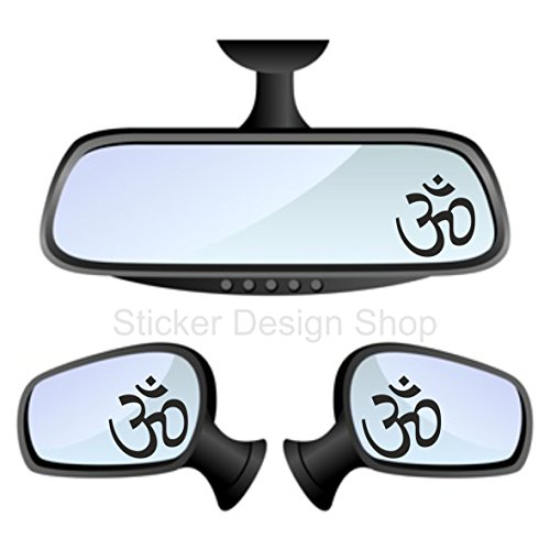 Om symbool AUM spiegel sticker auto laptop mobiele telefoon India 2 stuks