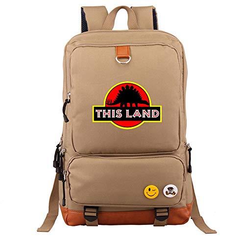 RLJqwad Mochila Jurassic Infantil Mochila Oxford Bolsa De Viaje De Dinosaurio Jurassic Park 9