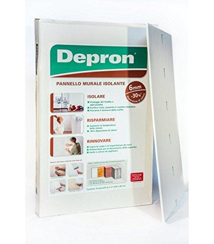 Pannello Isolante Depron (10 MQ) 80x125 cm/Spessore 6-3-9 mm (a scelta) (Spessore 6 mm) CON. 10 PZ.