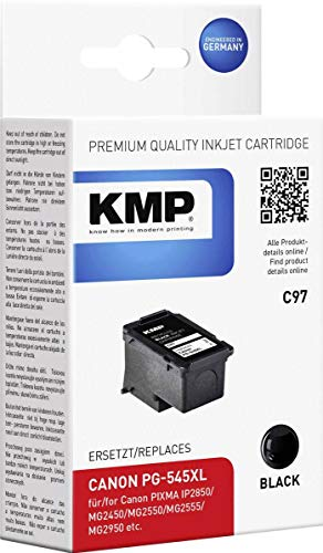 KMP Patrone Canon PG545XL Black 400 S. C97 Refilled