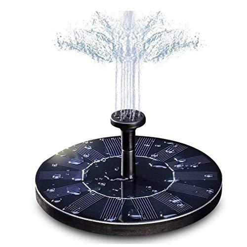 Tuindecoratie Water Drijvend Zonne-energie Fonteinpaneel Kit Waterpomp Zwart