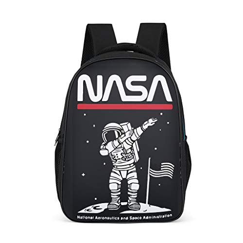 NASA Astronaut - Mochila infantil con estampado de astronauta en la luna, impermeable, mochila escolar para niños