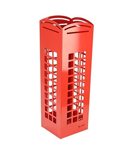DONREGALOWEB Paragüero de Metal con Forma de Cabina roja londinense 15.5x15.5x49 cm con Gancho para Paraguas pequeños