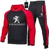 Hickeyy Hombres Jogging Chándal Peu.g-eot Dos Piezas Raglán Sudadera con Capucha + Pantalones Parte Superior/E/XL sponyborty