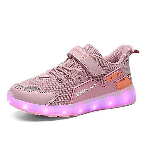 LZCW Kids LED Light Zapatos - Niños y Niñas USB Carga Zapatillas Intermitentes