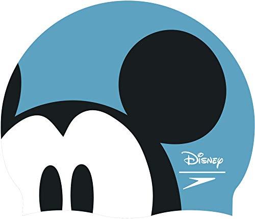 Speedo - Cappellino Disney per bambini, taglia unica, colore: Turchese/Nero/Bianco