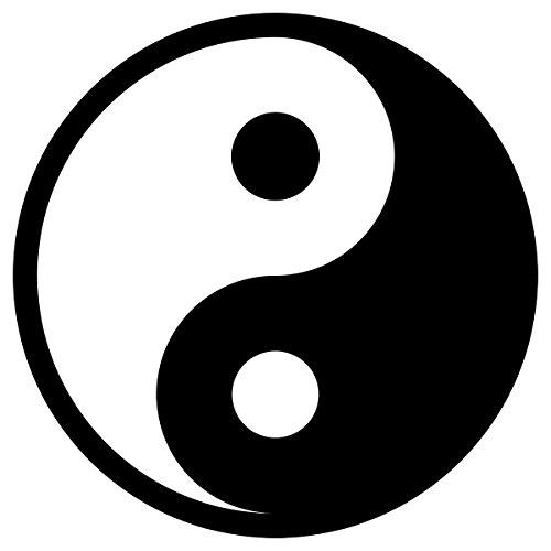 Baby-Sicherheits-Reflektor Yin-Yang - Parche termoadhesivo, diseño de yoga, 8 cm, color negro