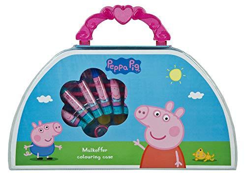 Undercover PIGP4220 Malkoffer Peppa Pig, mit Wachsmalkreiden, Fasermalern, Wasserfarben, Buntstiften und viel Zubehör, 51 teilig