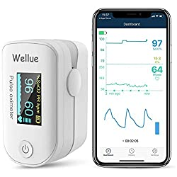 top 10 bluetooth pulse oximeter Wellue pulse oxygenometer, fingertip blood oxygen saturation monitor, battery and cable …