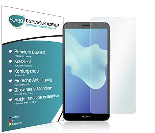 Slabo 4 x Bildschirmschutzfolie für Huawei Y5 (2018) Bildschirmfolie Schutzfolie Folie Zubehör Crystal Clear KLAR - unsichtbar Made IN Germany