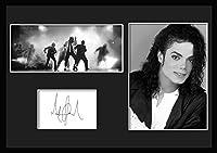 10種類!Michael Jackson/マイケル・ジャクソン/サインプリント&証明書付きフレーム/BW/モノクロ/ディスプレイ (6-3W) [並行輸入品]