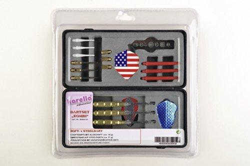 Bandito - set Combinazione Steeltip + freccette, tre Softdarts convertiti Steeldarts