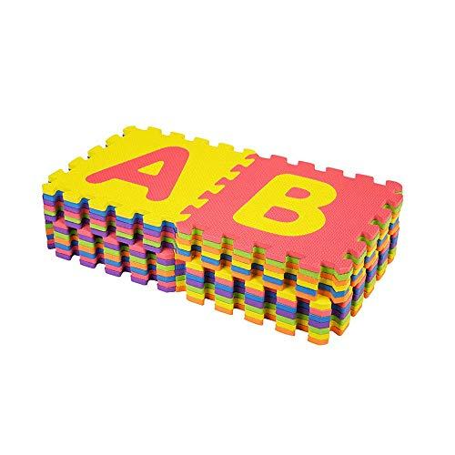 azorex 6Pcs Alfombra Puzzle 6 uds para Niños Colchoneta Sauve Infantil Protectora de Suelo Goma Espuma para Niño Gimnasio Habitación 30x30 cm