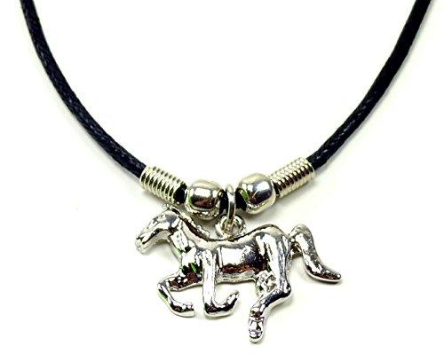 véritable collier en cuir avec pendentif en acier inoxydable UX de Cheval 6