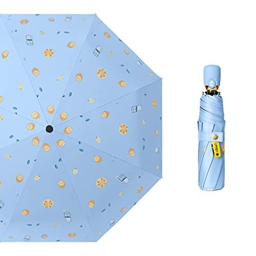 Lsdnlx Ombrello,Ombrello Automatico Piccolo Fresco Mini Ombrelloni da Giardino Pieghevoli