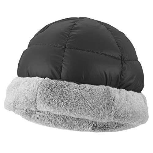 Hellery Gorra Deportiva Sombrero de Invierno Ropa de Esquí Gorra Térmica de Escalada - Negro, 30-66cm