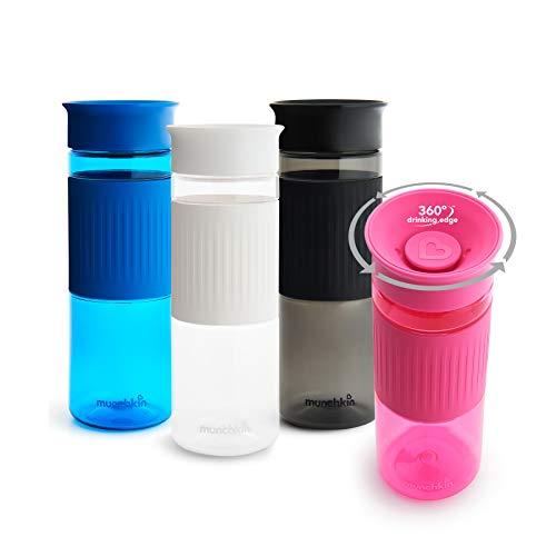 Munchkin Miracle 360ᵒ Trinkflaschen Eltern-Set, schwarz/weiß, 710 ml, 2er-Pack