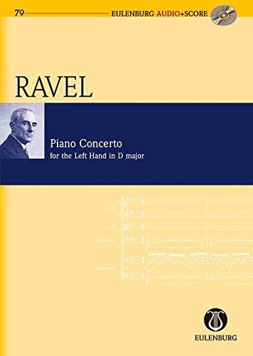 Konzert für die linke Hand D-Dur: Klavier und Orchester. Studienpartitur + CD. (Eulenburg Audio+Score)