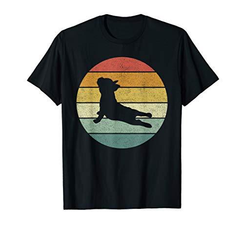 Vintage Retro French Bulldog Shirt Yoga Funny French Bulldog T-Shirt