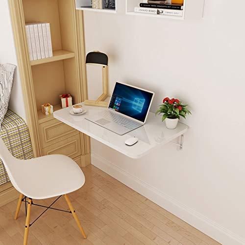 CHGDFQ Mesa plegable para ordenador portátil, plegable, para espacio pequeño, con base de madera, color blanco, para el hogar, oficina, escritorio (tamaño: 60 x 40 cm)