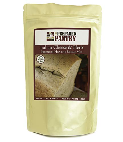 The Prepared Pantry Italian Cheese and Herb Gourmet Bread Mix; Single Pack; For Bread Machine or Oven