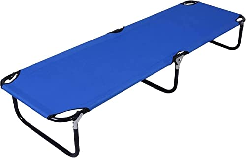 wholesale Giantex Blue Folding Camping Bed Outdoor Portable Army Military new arrival Camping high quality Bed outlet online sale