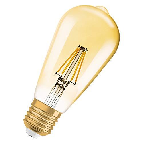 Osram LED Vintage Edition 1906 Lampe, in Edison Form mit E27-Sockel, nicht dimmbar, 4W=34W 410 lm 2400K, 1er-Pack