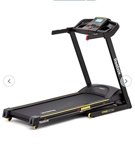 Reebok Fitness x - Cinta de Correr para Fitness (Manual, programable, de 120 a 124 kg, Inclinada, Ritmo cardiaco), Color Negro, Talla 165 x 75 x 131 cm