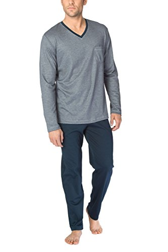 CALIDA Herren Comfy Zone Pyjama Zweiteiliger Schlafanzug, Schwarz (Onyx 808), X-Large