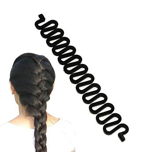 12 Pièces Cheveux Style Clip Cheveux Twist Outil Twist Tresse Tressage Outil De Tressage pour Coiffure DIY, Outil Tresse De Cheveux pour Queue De Cheval Style Styling Noir