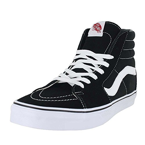 Vans SK8 Hi Black/Black/White Canvas Mens US 12 , 13.5 Women/12 Men