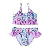 Bebé Niña Niños Traje De Baño De Dos Piezas Traje De Baño Tankini Bikini Set De Pesca De Impresión De La Escala De Los Niños Ropa De Playa