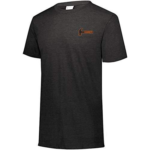 Hammer Bowling Products Hammer Tri-Blend T-Shirt, Schwarz, Größe XXXL