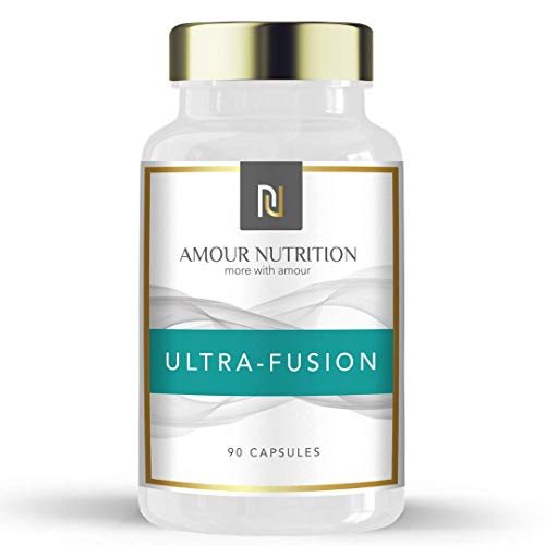 Amour Nutrition Ultra- Fusion Fat Burner, Powerful Weight Loss Diet Pills with Raspberry Ketone, Glucomannan, L- Carnitine, Chromium, UK Made Quality Assured