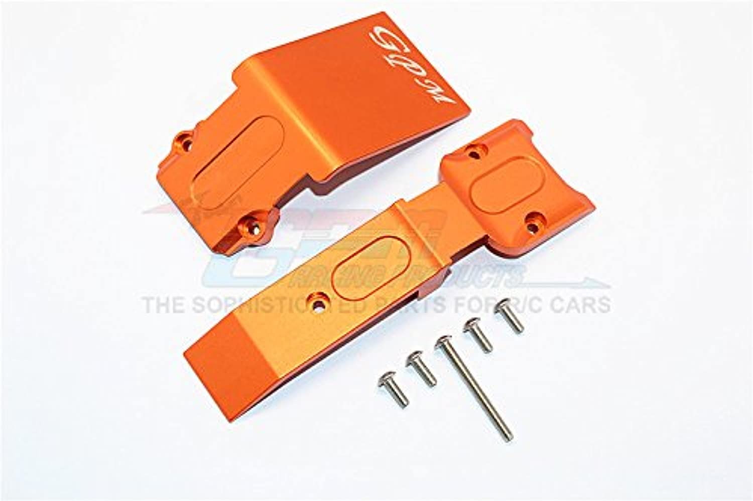 Traxxas E-Revo Brushless Edition Upgrade Parts Aluminum Front Skid Plate - 2Pcs Set orange