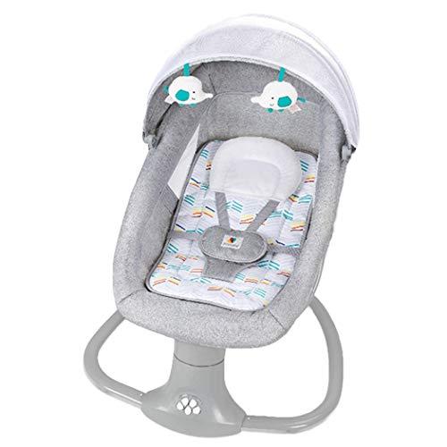 JCSW Balancin Bebe Columpios Infantiles, Vibraciones Relajantes, Hamaca Bebe con Sistema Balancín y Reductor, Cosas para Bebes Columpio Bebe de 0 a 18 kg, Gris, G002JY (Color : Gray)