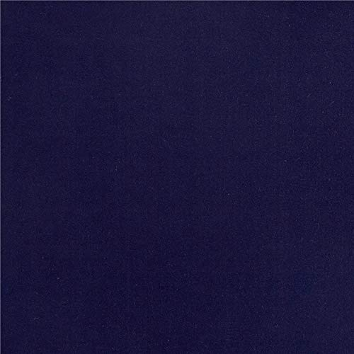 Fabric Merchants Double Brushed Poly Spandex Jersey Knit, Yard, Navy