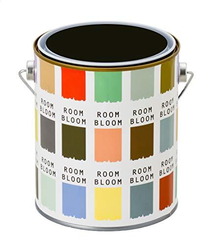 水性ペンキ(室内塗料)ROOMBLOOMMatte1kgカラー:Londonnight(ブラック黒)