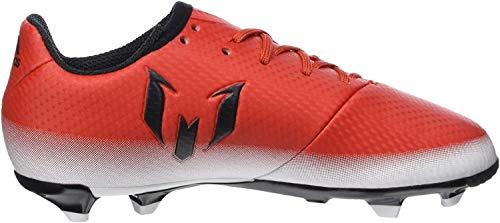 adidas Messi 16.3 FG J, Botas de fútbol para Niños, Rojo Red Core Black FTWR White, 37 1/3 EU