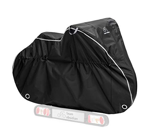 TeamObsidian Transportation Bike Cover L - Waterproof Travel Bicycle Cover for 1 Bike - Heavy Duty Ripstop Material - Offers Constant Protection for All Bicycles On Or Off The Rack