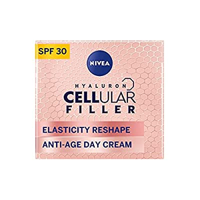 NIVEA Cellular Elasticity Day Cream (50 ml), Anti Wrinkle Cream with Hyaluron, Collagen Booster and Elastin Booster, Day Cream for Women, Anti Aging Face Cream Formulated for 50+ Skin by Beiersdorf UK Ltd